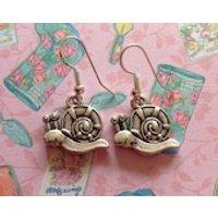 Snail Earrings Silver Snail Snail Jewellery Garden Creature Shell Earrings Gary Earrings Spongebob Squarepants Garden Snail - Spongebob Squarepants Gifts