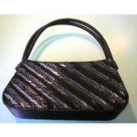 Bijoux Terner Purse, Black, Beaded, Vintage Evening Bag, Bugle Beads, Shoulder Bag, Black Handbag, Evening Purse - Shoulder Bag Gifts
