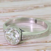 Art Deco 1.69 Carat Old Cut Diamond Engagement Ring, circa 1920 - Engagement Ring Gifts