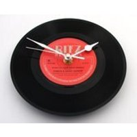 When You Were Sweet Sixteen, FOSTER  ALLEN Vinyl Record CLOCK, made from recycled 7 single gift men women black and red, 16th birthday - 16th Birthday Gifts