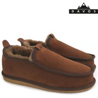 New Handmade Mens Premium 100% Pure Brown Twinface Sheepskin Boots Slippers  EVA Sole UGG Style - Ugg Gifts