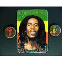 Bob Marley badges and sticker - Bob Marley Gifts