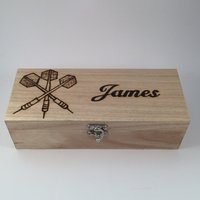 Personalised Large Wooden Darts Case - Darts Gifts