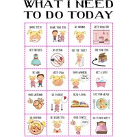 Girls Behaviour chart printable, SALE toddler routine, visual aid, ASD, girls imagery reward chart, picture chart, DOWNLOAD, build your own - Build Your Own Gifts