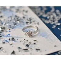 Alternative Rough diamond organic textured silver ring, rough diamond jewellery, wedding jewellery, alternative engagement ring - Engagement Ring Gifts