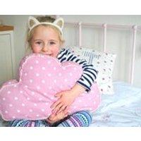 Pink spotty Cloud cushion, keepsake gift, newborn baby gift, birthday gift, baby gift, nursery decor - Nursery Gifts
