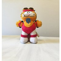 Garfield plush, vintage Garfield, vintage plush, Garfield collectible, Garfield the Cat, cuddly Garfield, 80s Garfield, cat plush, cat toy - Garfield Gifts