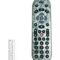 Green Demask Swirls Sky Q Remote Control Vinyl Sticker Skin Kit SKYQ - Remote Control Gifts