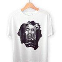 Bob Marley TShirt, Original Art Tee, S M L XL - Bob Marley Gifts