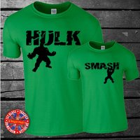 Matching Marvel The Hulk Inspired Tshirt Set  Hulk, Smash - Hulk Gifts