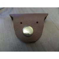Soft brown leather novelty earphone organiser with fastener, earphone holder, iphone cord tidy,stocking filler, Christmas, office, birthday, - Computers Gifts