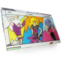 The Misfits Purse Jem and The Holograms  Recycled Book Page in PVC - Misfits Gifts