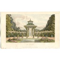 Garden Architecture Print, An Aviary by John Papworth, Architect, and Artist, Published by R. Ackermann. 1819 Hand Coloured Aquatint. - Artist Gifts