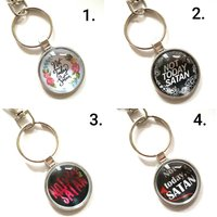 Not Today Satan Novelty keyring choice of 4 designs - Keyring Gifts