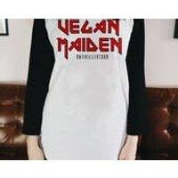 Vegan Iron Maiden baseball t shirt - Iron Maiden Gifts