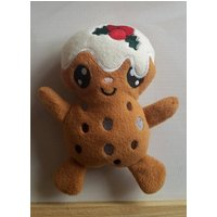 Christmas pudding, plum pudding soft toy, doll, cute, kawaii style, plushie  UK - Soft Toy Gifts
