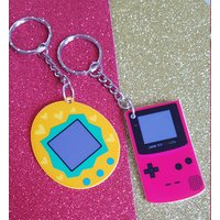 Retro Toys Keyrings  Tamagotchi Style and Game Boy Style. Electronic Pet  Stocking Filler - Electronic Gifts