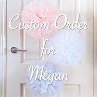Custom Order For Megan, hanging poms - Custom Gifts