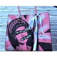 Sex Pistols Women Pink White Black God Save the Queen Customized Handpainted Faux Leather Large Bag Handbag Punk - Sex Pistols Gifts