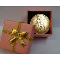 90th Birthday Gift in 2018 Shiny 90 Year Old 1928 British Penny Coin Presented in a Blue or Pink Gift Box Genuine PreCirculated Coin - 90th Birthday Gifts