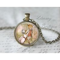 Jemima Puddle Duck and Mr Tod, Beatrix Potter Necklace or Keyring, Keychain. - Beatrix Potter Gifts