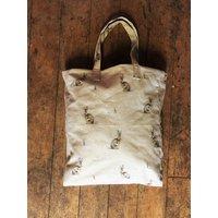 Large Hare/Rabbit Handbag  Handmade in Yorkshire  Shopper Bag  Tote  Everyday Handbag  Hare Print  Rabbit Print - Handbags Gifts