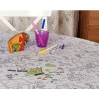 Creative colour me in tablecloth in construction site design - Construction Gifts