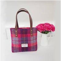Harris Tweed tote bag, shopper, Pink Harris tweed handbag. Purse in Harris Tweed Shoulder bag - Shoulder Bag Gifts