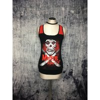 Misfits Womens Tank Top // Reconstructed TShirt // Size Small // Punk Friday 13th Gothic Music Alternative Horror - Misfits Gifts