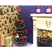 1/12th Christmas tree, miniature Christmas tree, Nordic miniature tree,  doll house candles - Seek Gifts