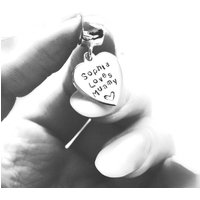 Pandora Heart Charm, Worded Pandora Compatible Heart Dangle Charm. Personalised Pandora Love Heart Charm With Wording. Charm For Mummy. - Pandora Gifts
