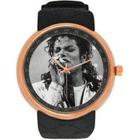 Michael Jackson Singer Rose Gold Wrist Watch Timeless Artist Durable Resin Strap - Michael Jackson Gifts