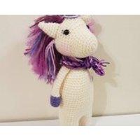 Crochet unicorn, handmade amigurumi toy, handmade unicorn, new baby shower gift, soft toy, baby gift, kids gift - Soft Toy Gifts