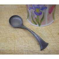 Arts and Crafts pewter spoon, hammered pewter. Antique Tudric pewter ? honey spoon, sauce ladle. Kitchenalia, cutlery, Art Nouveau, vintage - Arts And Crafts Gifts