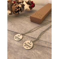 Set infinity and beyond necklaces, toy story buzz lightyear inspired best friend jewellery - Buzz Lightyear Gifts