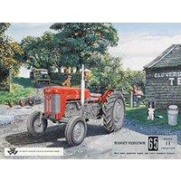 Massey Ferguson 65 Vintage Classic Farm Tractor Old Advert Small Metal/Tin Sign - Farm Gifts