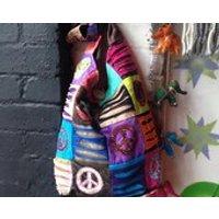 Om and Peace Heavy Cotton Shoulder Bag. Yoga Boho Hippie Hippy - Shoulder Bag Gifts