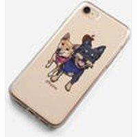 Custom illustration Drawing Pet dog cat animal Portrait Phone Case iPhone 6 7 8 Plus X Samsung S5 S6 S7 Edge S8 Plus Personalised gift print - Custom Gifts