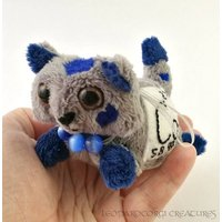 Elemental Cats: Cobalt  OOAK handmade periodic table science art doll soft toy - Soft Toy Gifts
