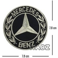 Mercedes Benz Embroidery iron sew on Patch Badge - Mercedes Gifts
