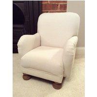 Childs Armchair  White Herringbone Small Chair  British Bespoke Furniture Handmade for Nursery Bedroom - Nursery Gifts