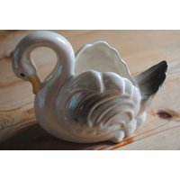 Vintage Kitsch Lustre Ware Swan Planter Vase Retro Ornament Rc 762461 - Rc Gifts