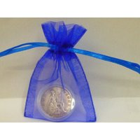 90th Birthday Gift Shiny 90 Year Old 1928 British Penny Coin Presented in a Coin Capsule  Blue or Pink Gift Bag Genuine PreCirculated Coin - 90th Birthday Gifts