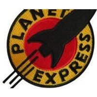 Futurama Planet Express Iron On Sew On Embroidered Patch T Shirt Bag Jeans Badge - Futurama Gifts