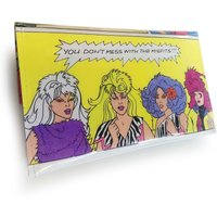 The Misfits Purse Jem and The Holograms  Recycled 80s Book Page in PVC - Misfits Gifts