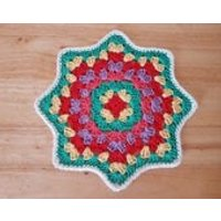 Mandala/Dollie Crochet table center piece  Vintage home  House warming  Gift  Handmade - Warming Gifts