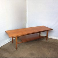 Mid century 1960s solid teak Richard Hornby for Heals coffee table with Teak shelf, mid century shelved coffee table, 1960s coffee table - Hornby Gifts