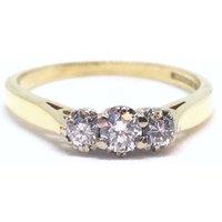Vintage 18ct Gold Diamond 0.25ct Trilogy Ring, Genuine Diamond, Alternative Engagement Ring - Engagement Ring Gifts