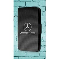 Mercedes Benz AMG Line Logo Lewis Hamilton Phone Cover Leather Flip Wallet Case - Mercedes Gifts