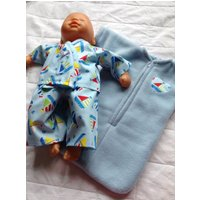 Dolls Clothes 1415 inch (3638cm) Pyjamas  Sleep Sack to fit baby dolls such as Corolle Classique, My First Baby Annabell, Bitty Baby etc - Baby Annabell Gifts